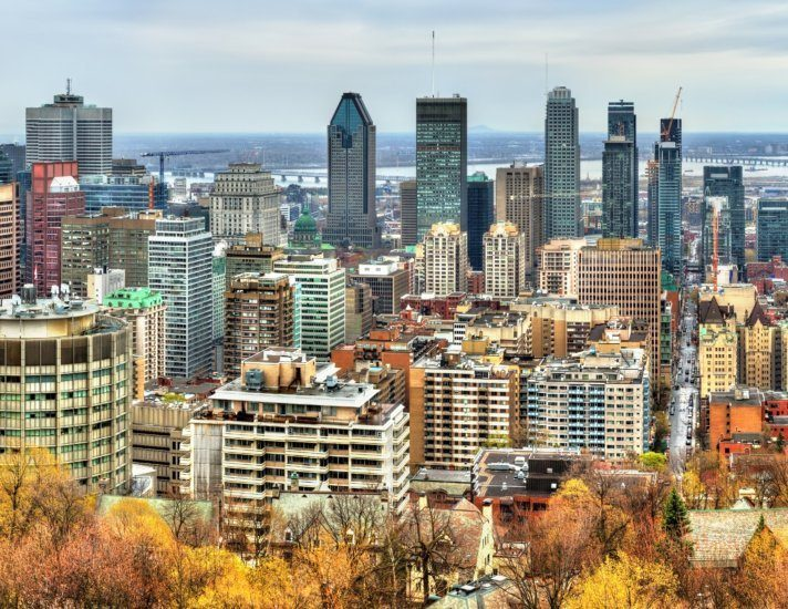 Montreal skyline from Mont Royal, Canada