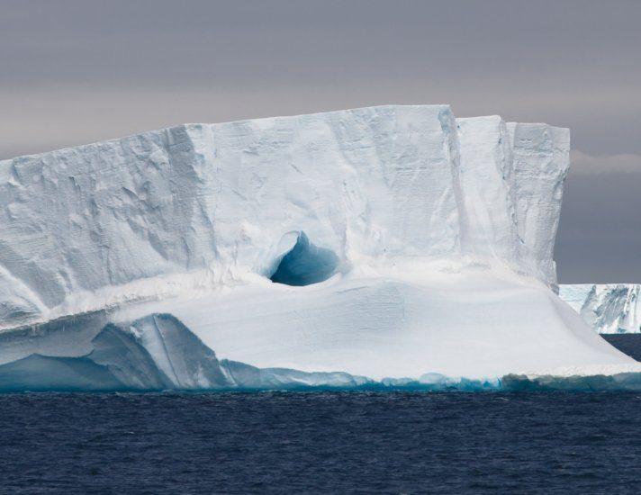 Tabular Iceberg Floating, Antarctic Peninsula, Antarctica
