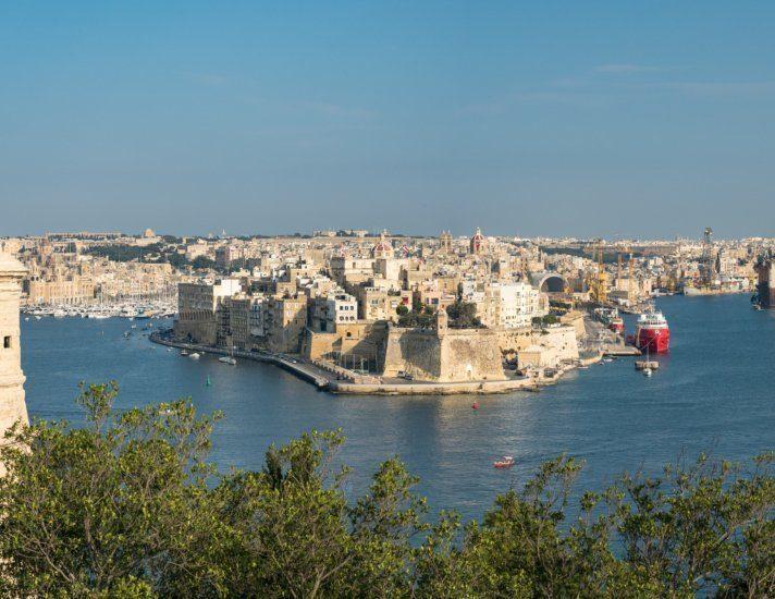Panorama Hafen Valletta - Malta